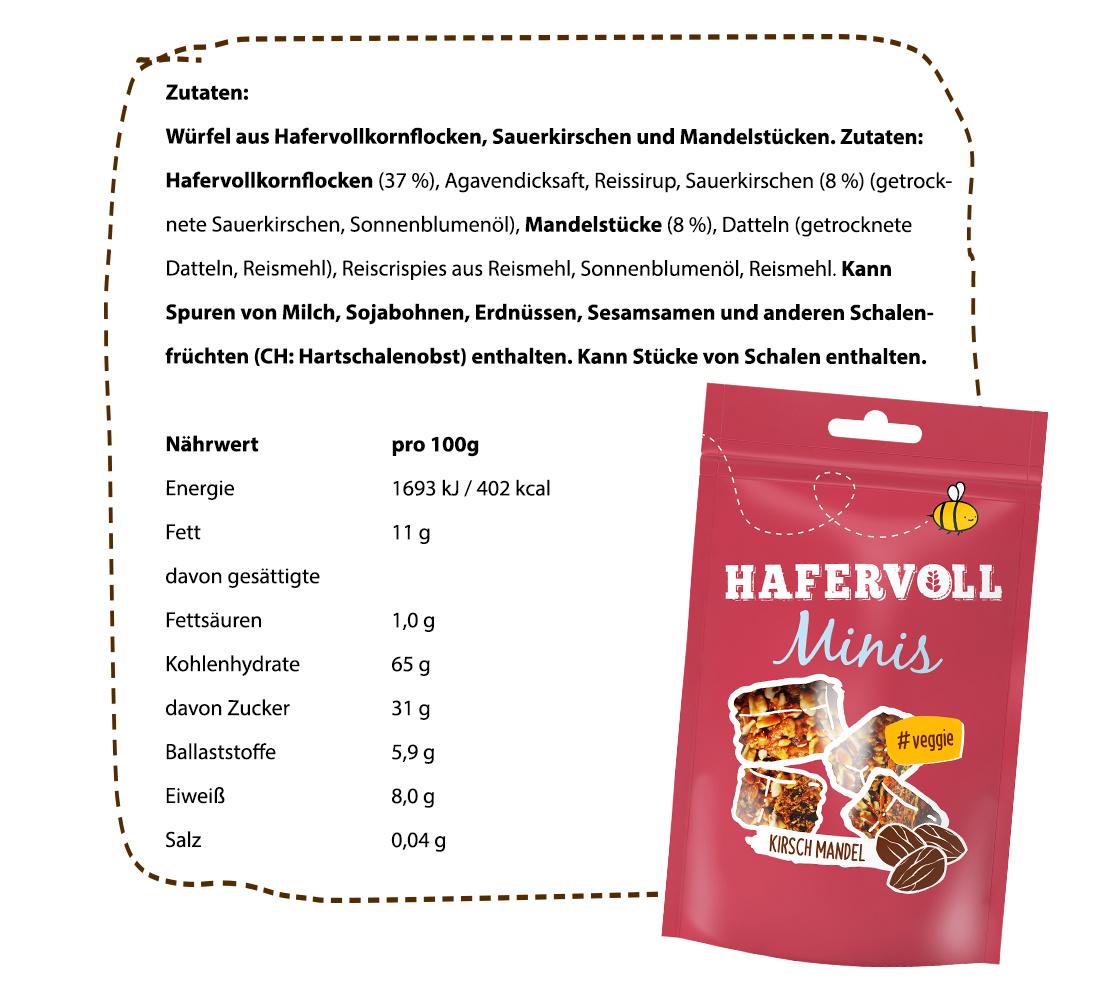Nährwerte & Zutaten Mini Kirsch Mandel