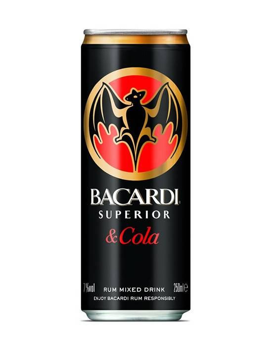 Statafel Red Bull.Bacardi Cola Blik Mixed Drink 7 250ml