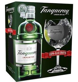 Tanqueray Gin + copa glas, Gin, 43,1%, 700ml