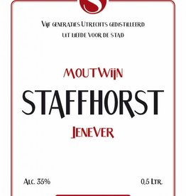 Staffhorst, Gelagerd, Moutwijn Jenever, 35%, 500 ml