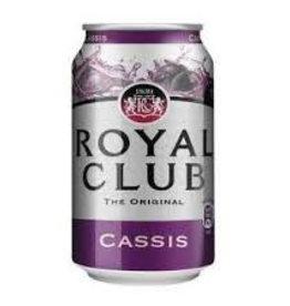 Royal Club Cassis, Frisdrank, 24x330 Tray blik