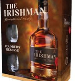 The Irishman Founders Reserve Whisky, 2 glazen, 40%, 700 ml