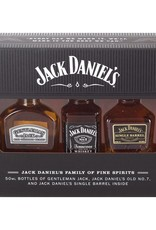 Jack Daniel Bourbon, Mini Set, 41.67%, 3x50 ml