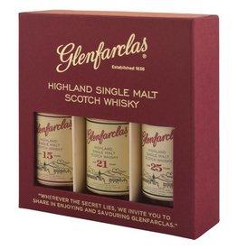 Glenfarclas miniset 15/21/25 y, Whisky, 44%, 150 ml