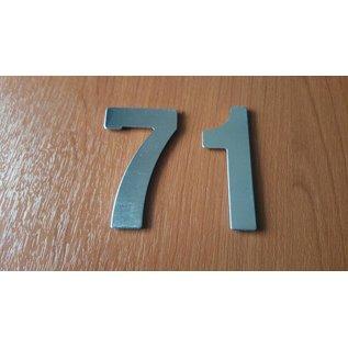 DBT Huisnummer 1 metaal, gepoliert