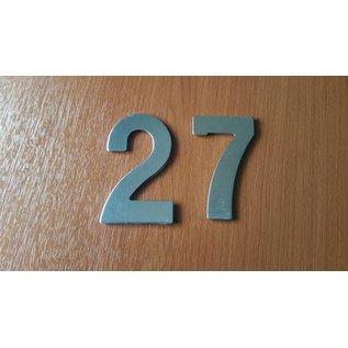DBT Huisnummer 2 metaal, gepoliert