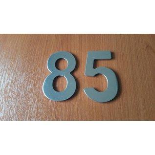 DBT Huisnummer 8 metaal, gepoliert