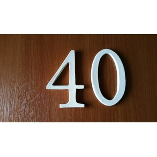 DBT Huisnummer 0, groot  Keramiek