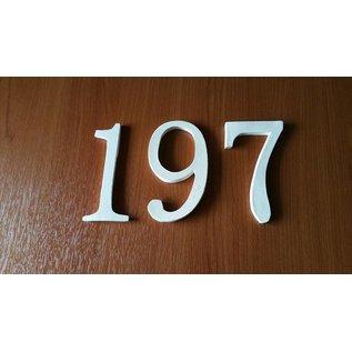DBT Huisnummer 1, groot Keramiek