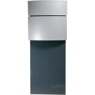 Safepost Brievenbus kolom model antraciet/zilvergrijs