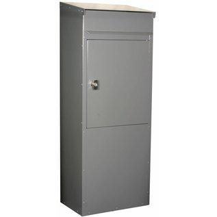 Safepost Brievenbus zilvergrijs kolom model 855