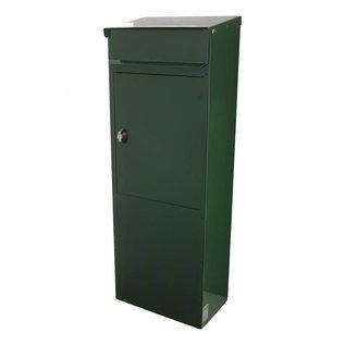 Safepost Brievenbus groen kolom model 855