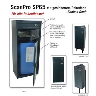 Safepost Pakket Brievenbus groot zilvergrijs SP65