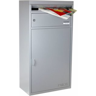 Safepost Pakket Brievenbus zilvergrijs SP45