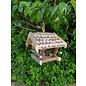 Vogel voederhuis klein boomschors dakpannen