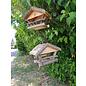 Vogel voederhuis groot boomschors dakpannen