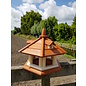 Vogel voederhuis pilaren en dakkapel roodbruin dak