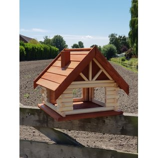 Mega Vogel bungalow  Roodbruin dak