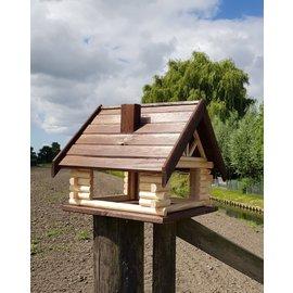 Mega Vogel bungalow  Donkerbruin dak