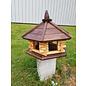 Vogel voederhuis 6-kantig loghuis donkerbruin dak
