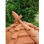 Vogel voederhuis 6-kantig Mega loghuis roodbruin dak