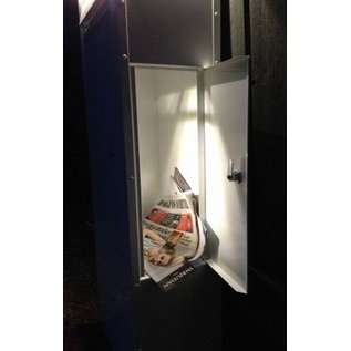 Safepost Brievenbus antraciet vrijstaand LED