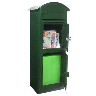 Safepost Brievenbus groen met pakketvak SP80