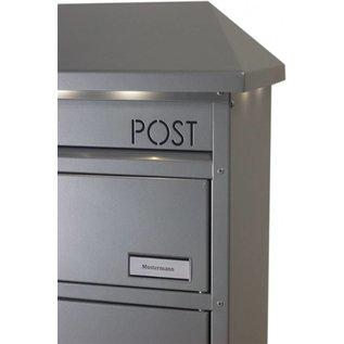 Safepost zilvergrijze Pakket Brievenbus/LED VERLICHTING voor grote pakketten SP95