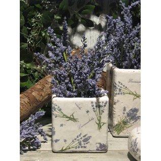Appletree Bloempotje vierkant Lavendel