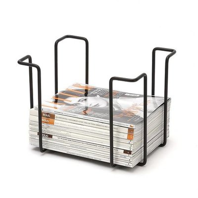 WE Design  Tijdschriftenrek Zwart 25x33x26cm - Deens design