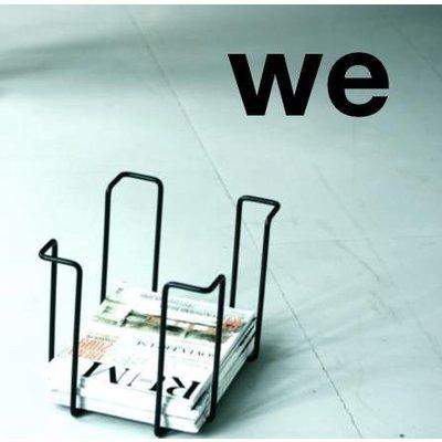 WE Design  Tijdschriftenrek Zwart 25x33x26cm