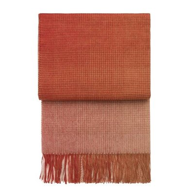 Elvang Denmark Horizon Plaid Pompeian Red - Orange Fairtrade 130x200cm