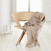 Elvang Denmark Classic wollen plaid beige fairtrade 130x200cm