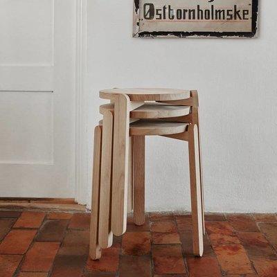 Skagerak Denmark Nomad kruk onbehandeld fsc eikenhout H45cm
