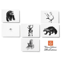 Teemu Järvi  Postcard set Artic Greetings A6