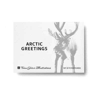 Teemu Järvi  Postcard set Artic Greetings in A6 formaat & set van 6 stuks