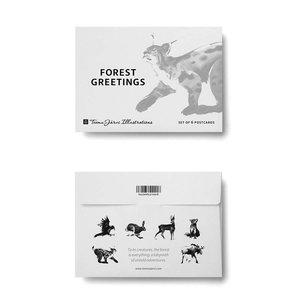 Teemu Järvi  Postcard set Forest Greetings A6