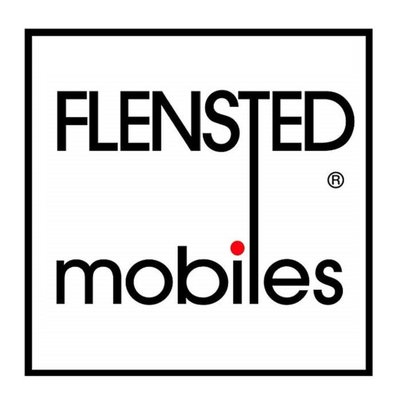 Flensted Mobiles Schaapjes mobiel in zwart wit 40x42cm