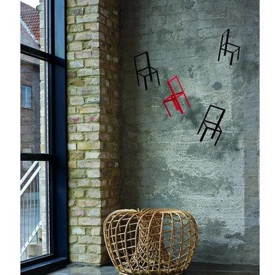 Flensted Mobiles Flying Chairs 55x40cm zwart rood