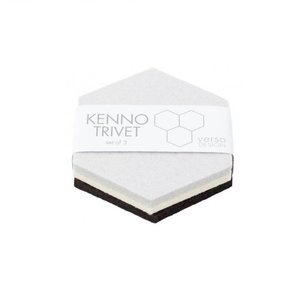 Verso Design Onderzetters Kenno grijs wit zwart 11,5x11,5cm