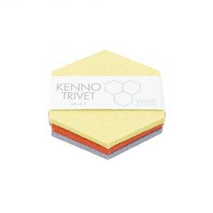 Verso Design Trivet set Kenno geel grijs orange