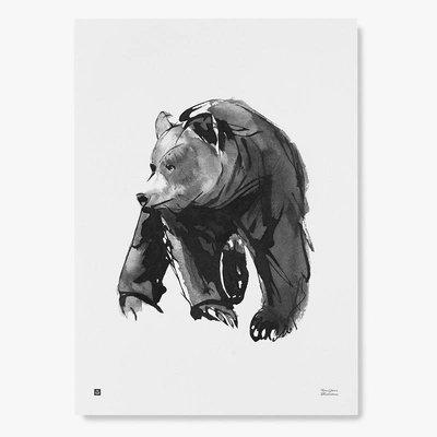 Teemu Järvi  Poster Gentle Bear - pen illustratie 30x40cm