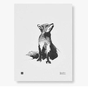 Teemu Järvi  Poster Red Fox 30x40cm