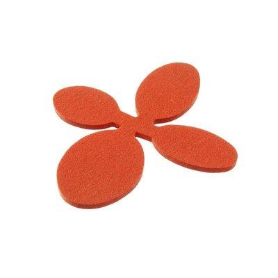 Verso Design Onderzetter trivet Papu wol vilt orange 18,5x20cm