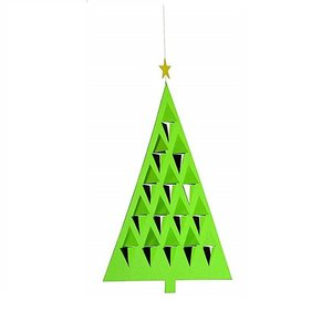 Flensted Mobiles Prismas Tree groen 28x20cm