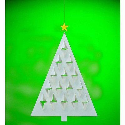 Flensted Mobiles Prismas Tree groen 28x20cm  -handmade in Denmark
