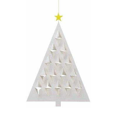 Flensted Mobiles Prismas Tree Wit 28x20cm  - handmade in Denmark