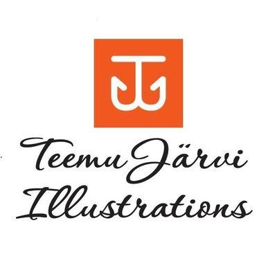 Teemu Järvi  Fins design poster OTTER - inkt illustratie H50xB70cm