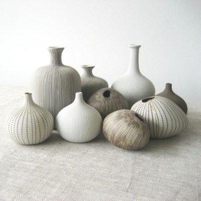Lindform Organisch vaasje Asti Small – Wit H6cm - handmade
