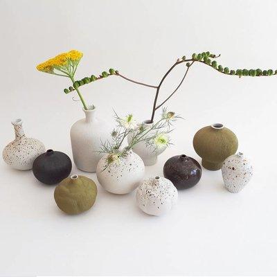 Lindform Vaasje Kobe Wit H9,5cm – hand made & duurzaam